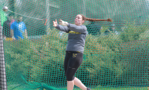 Elizabeth Weiers finished in 11th place in the hammer throw at the NCAA Outdoor Track and Field Championships on Friday afternoon.