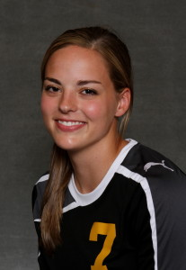 Maddison Ackiss scored the lone goal for Gustavus in the double overtime loss.