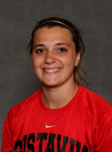 Ashley Becker made seven saves in the shutout win over Macalester.