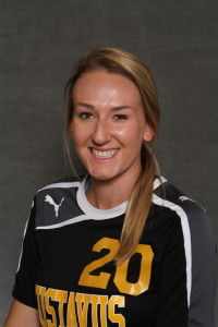 Brittany Chase scored the lone goal for the Gusties in a 2-1 loss at Luther College.