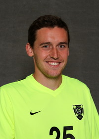 Senior Connor Danielson scored one of three Gustavus goals in a Friday night win over Principia.