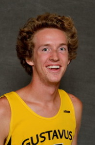 Paul Nordquist led Gustavus on Friday with a second place finish in River Falls.