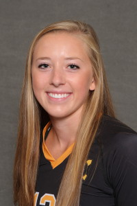 Lauren Hanson led the Gusties with 13 kills at Carleton.