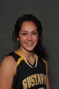 Miranda Rice played a key role in the Gusties' second half comeback and finished the game with nine points and six rebounds.