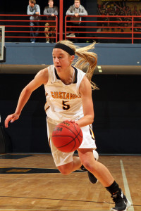 First-year Brooke Lemke chipped in a career high six points and played a key role off the bench for the Gusties on Wednesday.