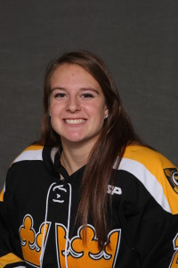 Liane Fischer scored one of the Gusties' two goals on Wednesday evening in River Falls, Wis.
