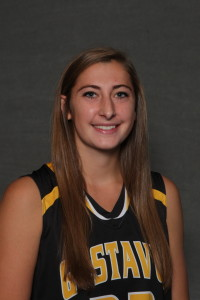 Hannah Howard only scored two points Friday, but grabbed 13 rebounds (four offensive), dished out four steals, and tallied four steals in a 67-55 Gustie victory.