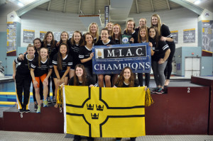 Women's swimming and diving MIAC champs.