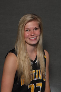 Taylor Anderson scored a career best 11 points against Hamline.