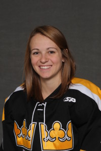 Erica Power scored a shorthanded goal in the Gusties' 4-3 win over Concordia on Friday.