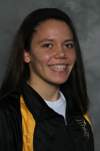 Linnea Rizzo continued her strong rookie season with two event victories in Friday's dual win over St. Thomas.
