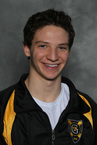 Tanner Sonnek earned two of Gustavus's three event wins in Friday's dual meet vs. St. Thomas.