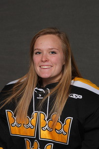 Paige Press kept Saint Mary's scoreless during her 39 minutes between the pipes for Gustavus.