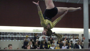 Rachel Thiner posted a 9.3 on the beam. (photo by Roisen Granlund)