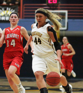 Steph Klockmann was one of six Gusties to score seven or more points in Tuesday's game.