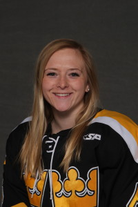 Emily Gustafson scored her first goal of the season and also tallied an assist in Friday's 9-3 win over Hamline.
