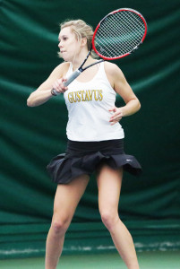 Laura Martin won both her singles and doubles matches over Morningside.