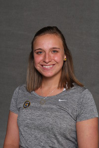 Lizzy Stanczyk was part of the No. 1 doubles team that provided the Gusties' lone win against Trinity.