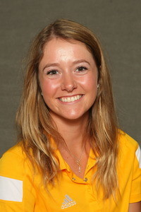 First-year Ellie Brandt improved eight strokes to move into a tie for 21st in the final standings.