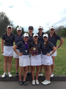 The Gustie women's golf team earned second place at the MNSU Spring Invite this past weekend.