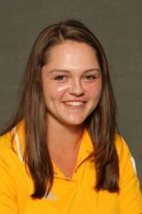 Jessica Nelson led Gustavus on day one with a score of 75, good for a tie for fourth place.