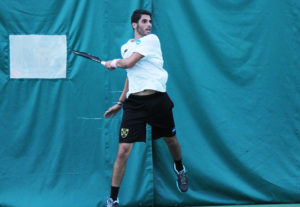 Mohanad Alhouni fell by a 6-4, 6-0 count in his singles match Thursday.