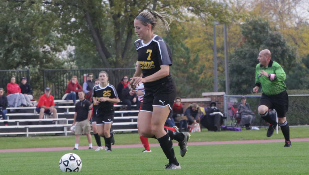 Maddison Ackiss recorded her third two-goal game of the season.