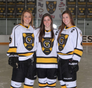 Team Captains, from left: Erica Power, Allie Lewis, Diana Draayer