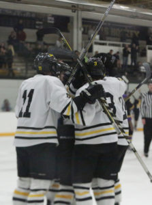 The Gusties celebrates the game-tying goal.