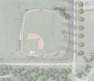 Current baseball field layout.