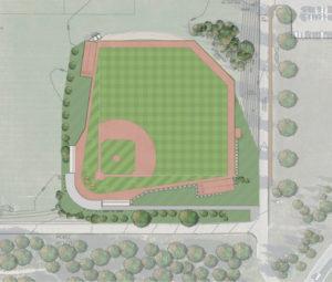 New baseball field layout.