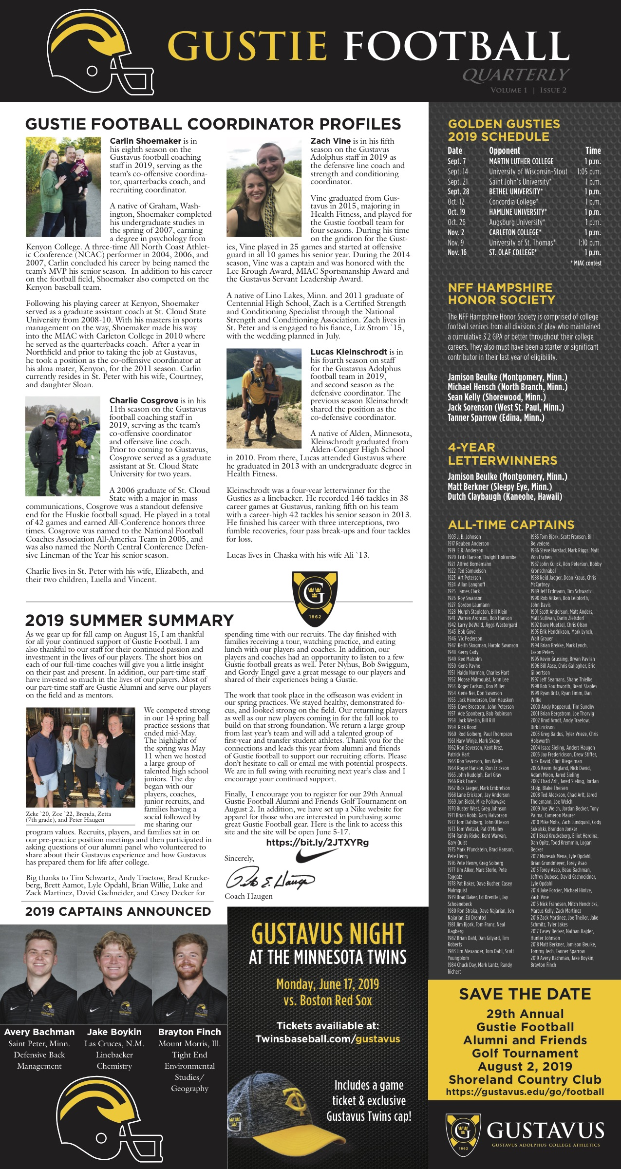 Football Quarterly Newsletter – Summer Update - Posted on June 7th